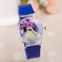 原宿透明手表 孔雀 塑胶 学生小清新森女软妹表 PVC手表批发