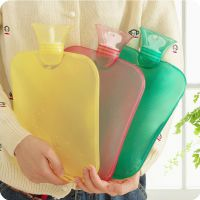 PVC注水透明热水袋 糖果色长条长方形热水袋注水暖水袋 暖宝 323g
