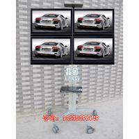 多屏显示器移动支架液晶电视移动推车14-24电视落地支架挂4屏幕