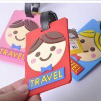 厂家批发创意卡通行李牌 PVC吊牌 PVC软胶行李牌 箱包配件