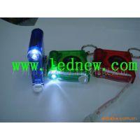 皮料塑胶1米长带led灯发光伸缩卷尺