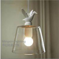 供应铭星欧式清光玻璃白色小鸭吊灯餐厅吧台楼梯过道客厅创意现代吊灯