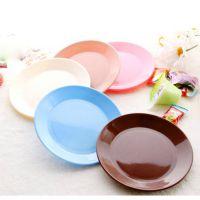 1186创意家居 糖果色安全塑料餐具小碟子 零食瓜子平底盘子0.31