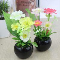 美丽仿真绢花陶瓷盆栽 仿真植物
