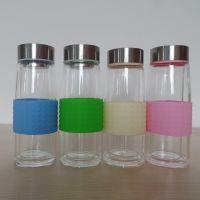 永康厂家直销创意大肚加厚底广告杯批发定制双层高硼硅玻璃保温杯
