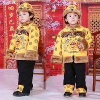 一件代发  品牌童装 宝宝冬装男童礼服唐装套装 儿童唐装棉袄