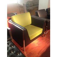 佛山顺德乐从家具家私真皮沙发批发 不锈钢办公沙发 接待贵宾沙发