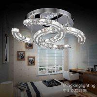 供应创意香奈儿水晶灯简约LED卧室灯不锈钢客厅灯餐厅灯具吸顶灯铭星