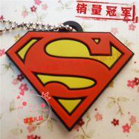 超人标志s形红色 pvc软胶钥匙扣 速卖通 ebay热卖挂件 电影周边