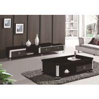 豪艺轩品牌,现代简约风,钢化玻璃钢琴烤漆电视柜茶几组合