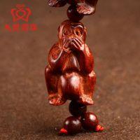 饰品三不猴挂件手把件 红木工艺品 不看不听不说小饰品猴热卖批发