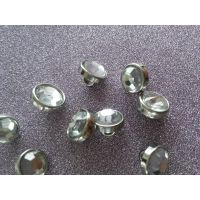 1cm袖口衬衫纽扣透明水晶玻璃镶钻纽扣银色金属时装纽扣