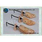 Wood color wooden shoe stretcher adjustable for various shoes