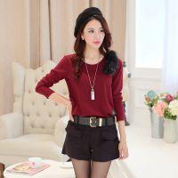批发女式套装2014韩版时尚显瘦打底衫上衣短裤两件套套装FZL-1572