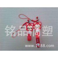 创意饰品 卡通人物手机挂件 软胶PVC, 厂家直销