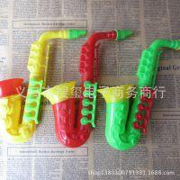 新款地摊热卖萨克斯喇叭儿童乐器塑料玩具 儿童益智玩具批发