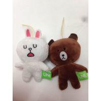 出口尾货LINE 布朗熊恶魔可妮兔毛绒玩具公仔来自星星的你基本款