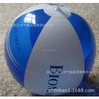 专业生产直径30cm环保6P-6片彩色丝印pvc透明led闪光充气沙滩球