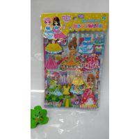 韩版立体娃娃泡泡贴  双层公主换装贴纸 儿童卡通奖励贴