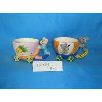 供应情侣搪瓷杯 老鼠情侣杯 陶瓷卡通情侣杯 广告礼品防烫杯