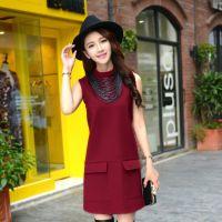 品牌女装微信空间代理韩版修身秋冬款无袖针织连衣裙时尚打底裙
