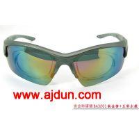 新款防护眼镜 黑 五彩水银灰 可拆卸近视内框AJD-BA3201