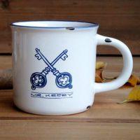 回到过去-复古仿搪瓷杯 zakka个性陶瓷杯 办公室水杯咖啡杯情侣杯