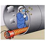 供应直径500MM风机专用隧道管道工程通风伸缩软管