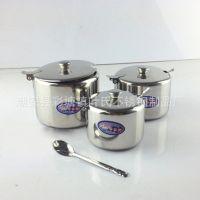 调料罐 调料盒 不锈钢调味罐 烧烤大排档餐厅糖盅 带勺多用罐