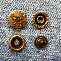 供应金属四合扣 金属纽扣 电镀扣子 小额批发订做金属扣