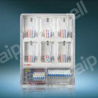 单相6位透明电表箱 小区6户防窃电配电箱 预付费电表箱 温州厂家