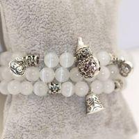 纯天然水晶水钻小葫芦 猫眼石 转运珠 福 多层串珠手链批发