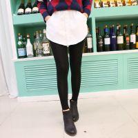 秋冬新款时尚百搭流行拼色假两件女士打底裤 S292