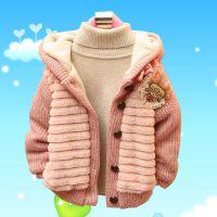 秋冬装新款韩版女童加绒外套 童装网络代理加盟 网店货源分销