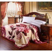厂家直销婚庆 毛毯厂家批发特价拉舍尔绒毯加厚双层正品专柜