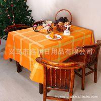 高档餐厅印花桌布、涤纶印花台布、欧美餐桌布  、盖巾质优价廉