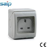 塑料明装开关插座 三插 SP-S墙壁开关插座 多功能IP55防水插座
