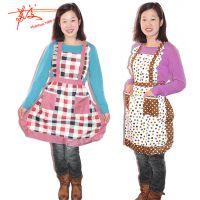 韩版双层防水围裙 洗衣做饭围裙 家务清洁服 工厂货源
