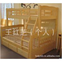 双层床 实木成人松木双层床 儿童上下床实木双层床上下