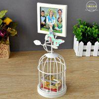 飞歌欧式金属鸟笼音乐盒相片八音盒可放照片生日礼物创意礼品批发