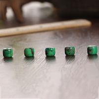 批发 美国天然绿松石 金线松 手工DIY 佛珠配件 散珠隔珠圆柱珠