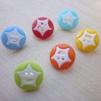 供应精品彩色塑料纽扣、钮扣、树脂纽扣 【可染色】