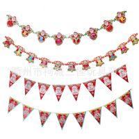 圣诞节用品装饰品 圣诞快乐字母拉花挂饰挂旗三角旗 拉条拉旗