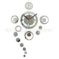 【厚板亚克力】厂家直销 亚克力工艺时尚挂钟  镜片时钟 低价促销
