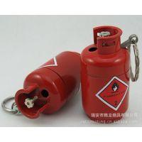 供应小煤气瓶打火机 金属明火打火机 煤气罐打火机