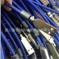 厂家供应批发 透明蓝USB2.0带磁环方口打印线1.5米/A公对B公