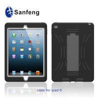 2014款平板ipad6手机壳保护套 ipad6 硅胶+pc清水套大支架