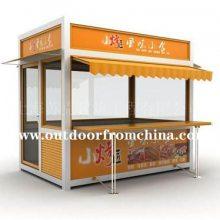 成都游乐园售货车,户外广场售卖亭,车站固定式早餐车,美食街售卖推车