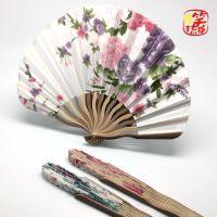 Kk 竹制刀扇 25 HF-10日式和风绢布折叠扇 折叠团扇