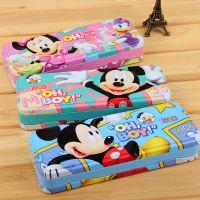 K208 迪士尼米奇82392文具盒 双层 铅笔盒 米奇看书架笔盒250g